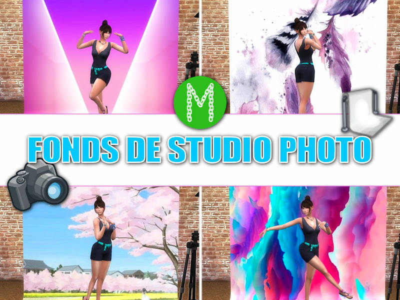 ▷ Fonds Studio Photo Sims 4