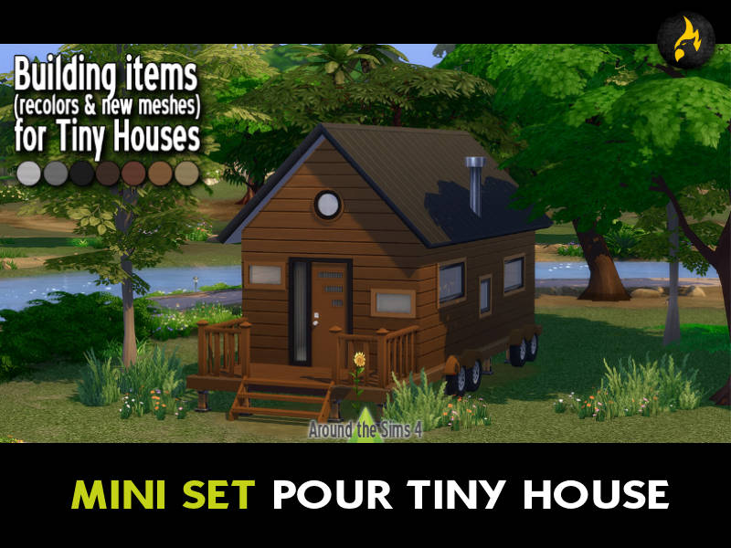 ▷ Set d'Objets pour Tiny House par Around The Sims 4